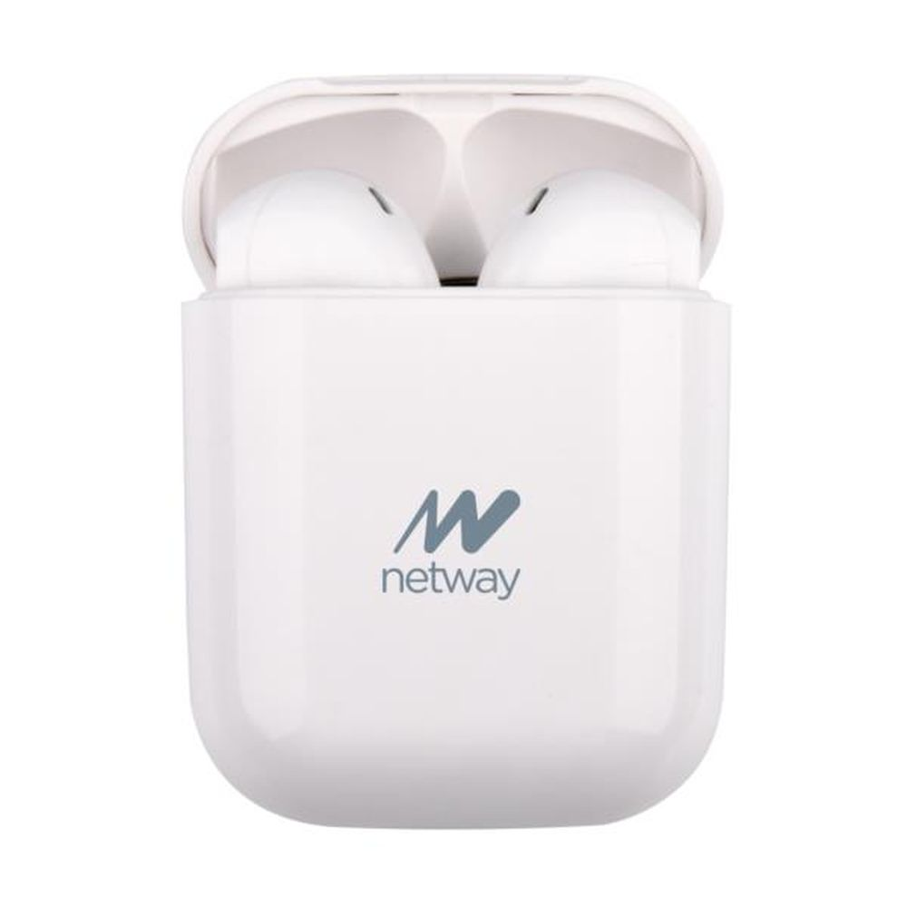 Auriculares bluetooth netway button lite white