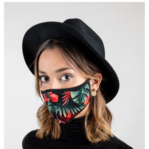 Mascarillas ABBACINO tropical negro
