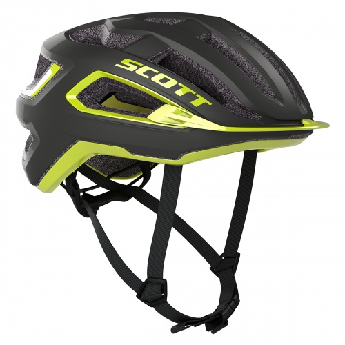 Casco Scott Arx Plus (ce)  negro y amarillo